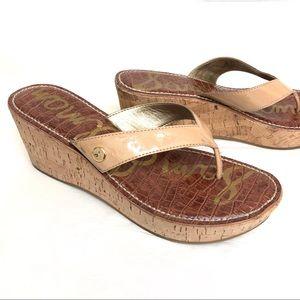 "Sam Edelman ""Roma"" thong wedge sandals 10M"